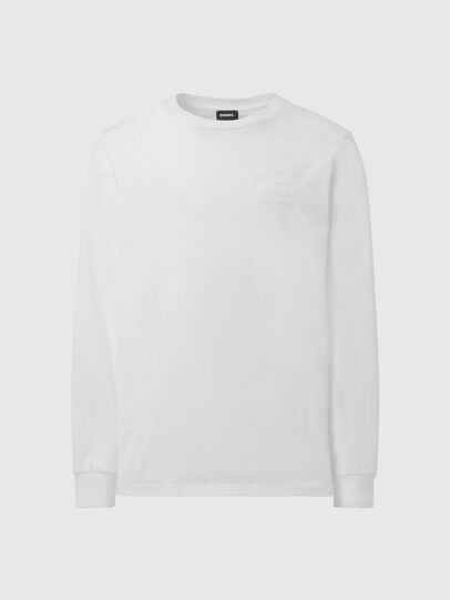 Diesel - T-JUST-LS-X91, White - T-Shirts - Image 1