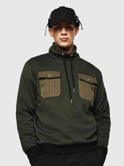 Diesel - S-TENKO, Dark Green - Sweatshirts - Image 1