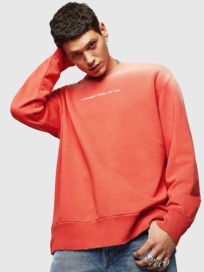 Diesel - S-BAY-SUN, Orange - Sweatshirts - Image 1