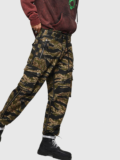 Diesel - P-LUZAVIC-TIGERCAM, Military Green - Pants - Image 5