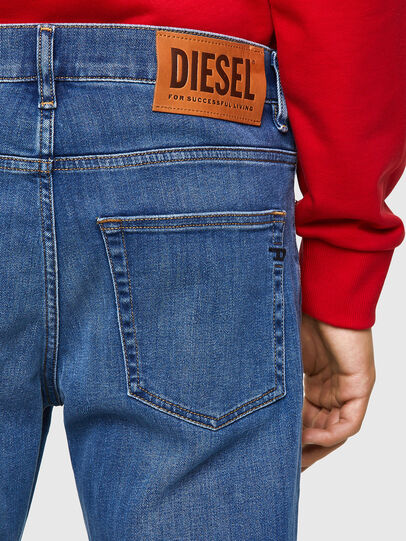 Diesel - D-Fining Tapered Jeans 09A80, Medium Blue - Jeans - Image 4