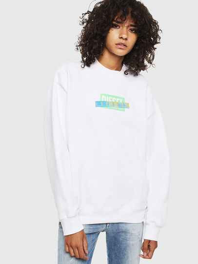 Diesel - F-ANG-S1, White - Sweatshirts - Image 1