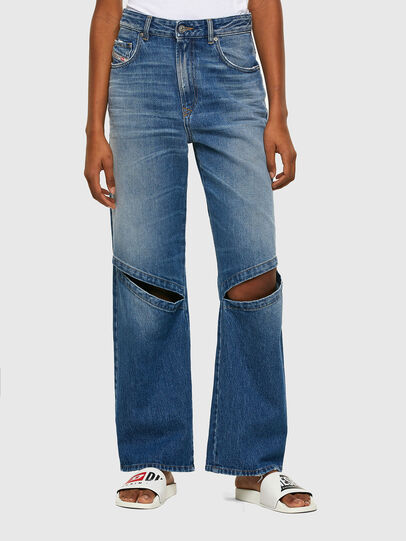 Diesel - D-Reggy Straight Jeans 009RK, Medium Blue - Jeans - Image 1