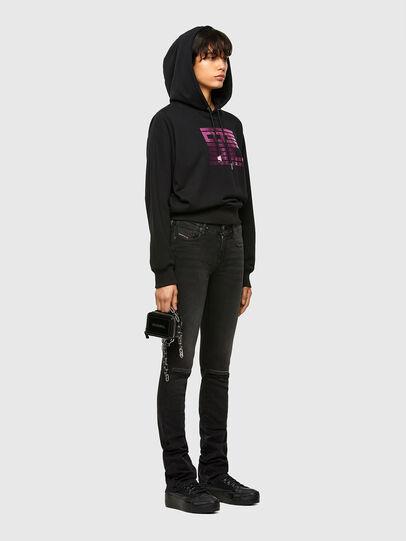 Diesel - F-ANG-HOOD-K23, Black - Sweatshirts - Image 4