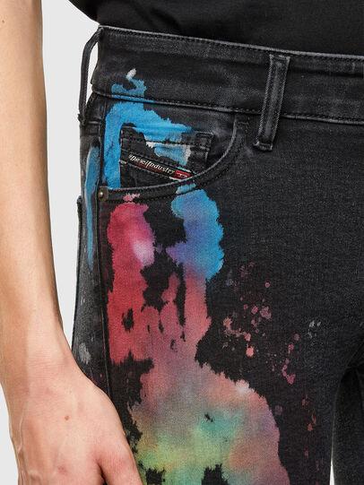 Diesel - Slandy Skinny Jeans 069UF, Black/Dark Grey - Jeans - Image 3