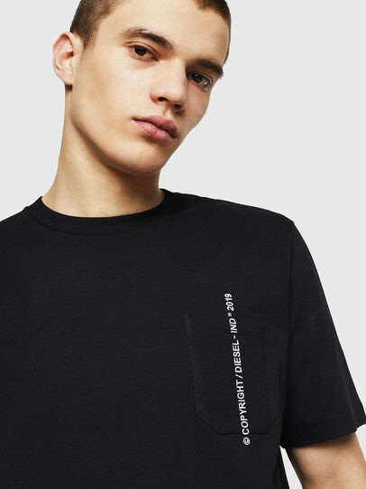 Diesel - T-JUST-POCKET-COPY, Black - T-Shirts - Image 3