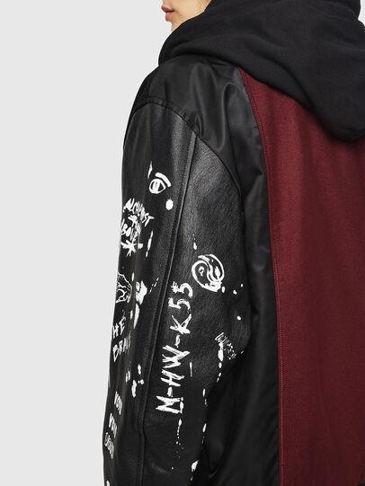 Diesel - W-ANTONIA, Black/Red - Winter Jackets - Image 6