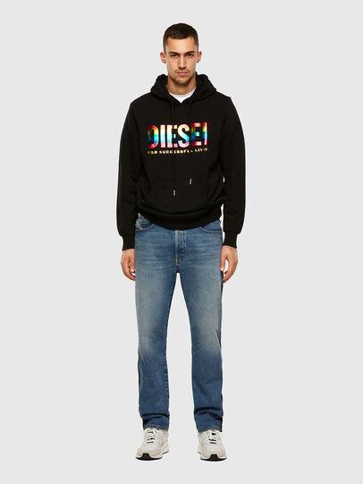 Diesel - S-GIR-HOOD-P, Black - Sweatshirts - Image 4