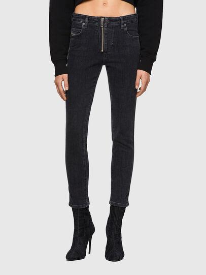 Diesel - Babhila Slim Jeans 09A67, Black/Dark Grey - Jeans - Image 1
