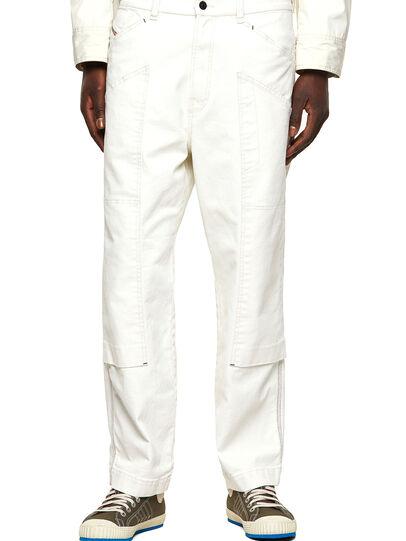 Diesel - D-Franky Straight Jeans 009ZJ, White - Jeans - Image 1