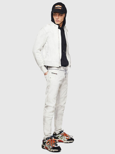 Diesel - D-JEI-SP2 JOGGJEANS, White - Denim Jackets - Image 7