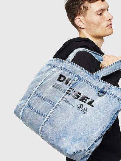Diesel - D-THISBAG SHOPPER L, Light Blue - Shopping and Shoulder Bags - Image 6