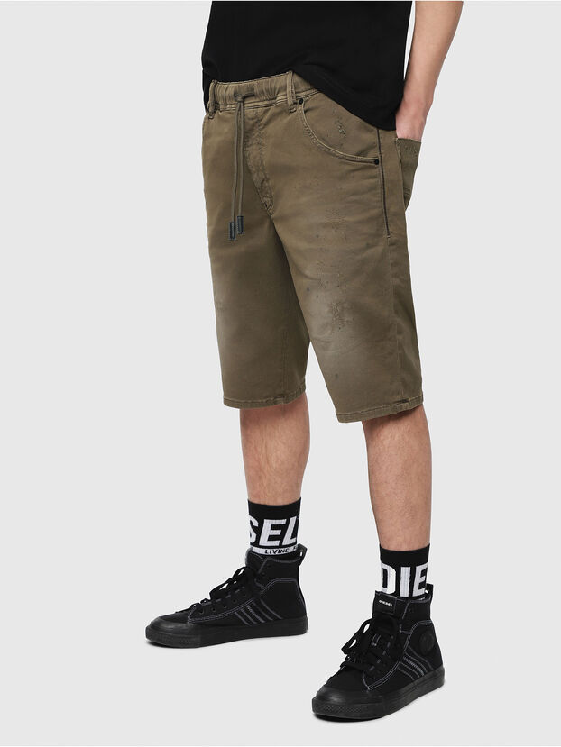 D-KROOSHORT JOGGJEANS, Military Green - Shorts