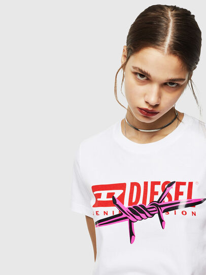 Diesel - T-SILY-ZC, White - T-Shirts - Image 4