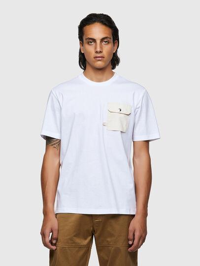 Diesel - T-JUSMER, Blanco - Camisetas - Image 1