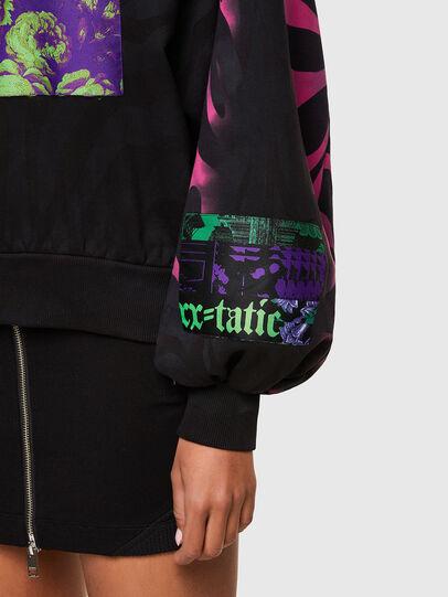 Diesel - F-BIORG, Black/Pink - Sweatshirts - Image 4
