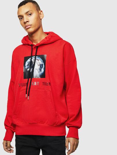 Diesel - S-ALBY-YA, Red - Sweatshirts - Image 1