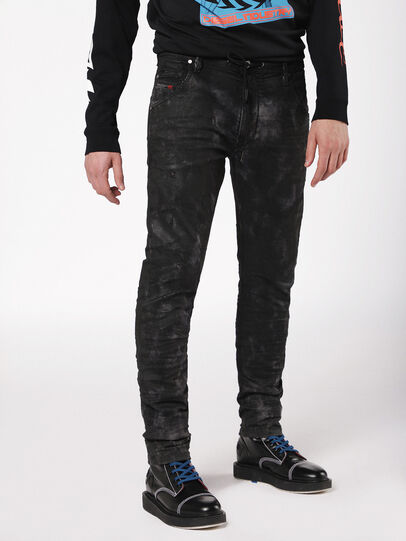 Diesel - Krooley JoggJeans 069AS, Black/Dark Grey - Jeans - Image 3