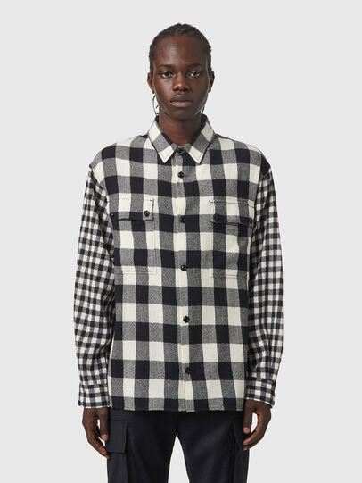 Diesel - S-BUNNEL-CHECK, Negro/Blanco - Camisas - Image 1