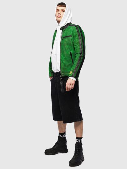 Diesel - L-BOY-A, Green - Leather jackets - Image 6