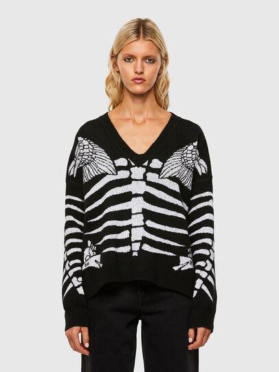Diesel - M-CRYSTAL, Black - Sweaters - Image 1