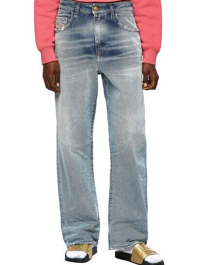 Diesel - D-Reggy Straight Jeans 09A04, Light Blue - Jeans - Image 1