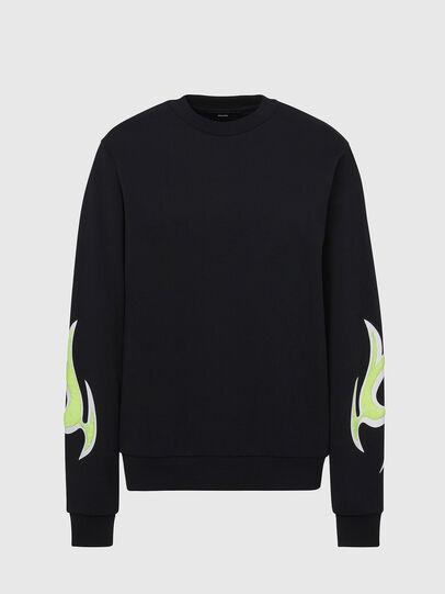 Diesel - F-ANG-E1, Black - Sweatshirts - Image 1