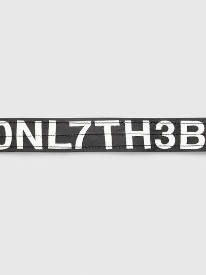Diesel - B-R4V3, Black/White - Belts - Image 3
