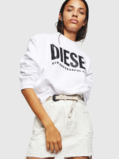 Diesel - F-ANG, White - Sweatshirts - Image 4