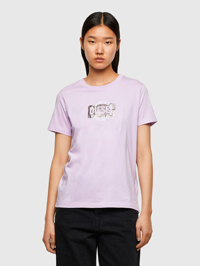 Diesel - T-SILY-R5, Lilac - T-Shirts - Image 1