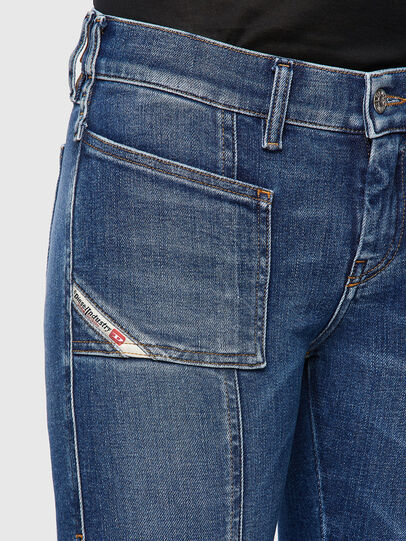 Diesel - Slandy Skinny Jeans 009ZW, Medium Blue - Jeans - Image 4