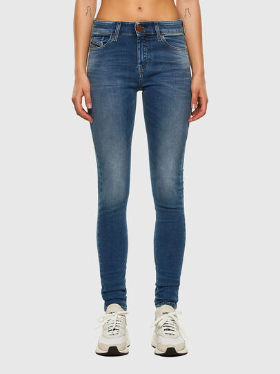 Diesel - Slandy Skinny Jeans 084NM, Medium Blue - Jeans - Image 1