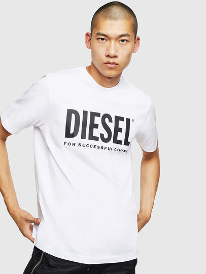 Diesel - T-JUST-LOGO, White - T-Shirts - Image 1