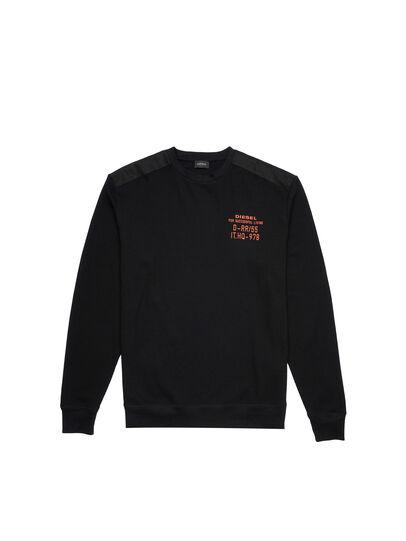 Diesel - UMLT-WILLY-W, Black - Sweatshirts - Image 1