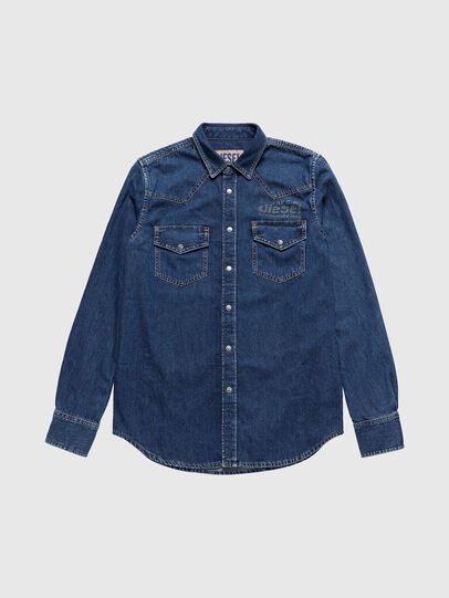 Diesel - US-D-EAST-P, Medium Blue - Denim Shirts - Image 1