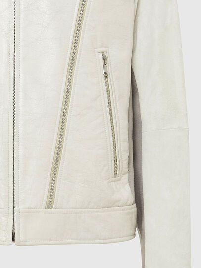 Diesel - L-CROME, White - Leather jackets - Image 6