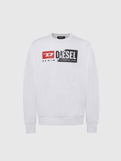 Diesel - S-GIRK-CUTY, White - Sweatshirts - Image 1