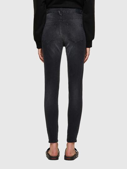 Diesel - Slandy High Skinny Jeans 069SB, Black/Dark Grey - Jeans - Image 2