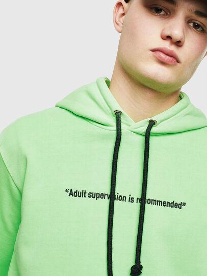 Diesel - S-GIRK-HOOD-FLUO, Green Fluo - Sweatshirts - Image 5