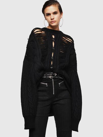 Diesel - MEBLY, Black - Sweaters - Image 4