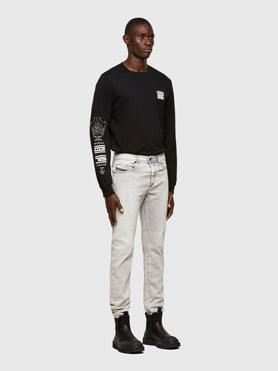 Diesel - Buster Tapered Jeans 069RP, Light Grey - Jeans - Image 5