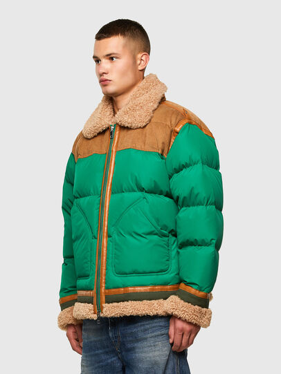 Diesel - W-EVAN-A, Green - Winter Jackets - Image 4