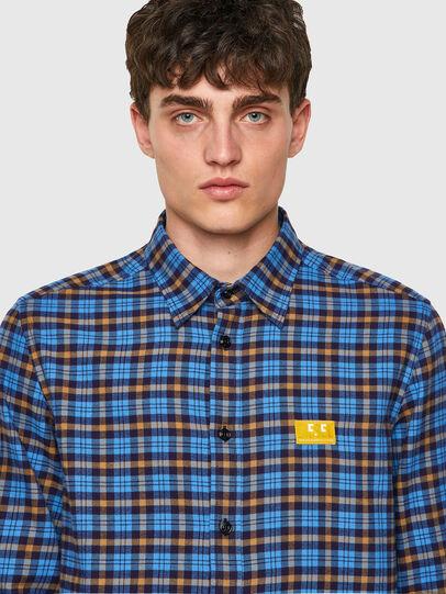 Diesel - S-MOI-CHK-A, Blue/Yellow - Shirts - Image 3