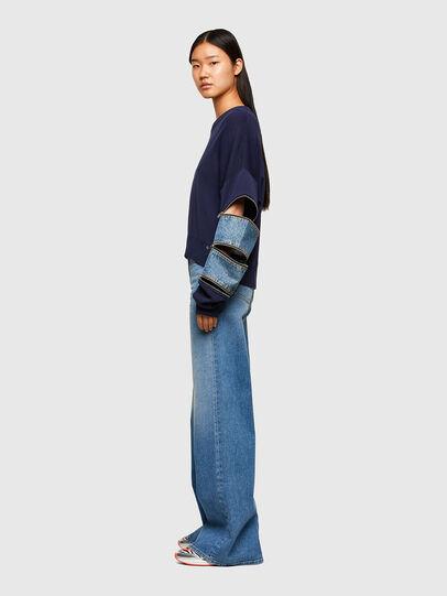 Diesel - M-AQUAMARINE, Blue - Sweaters - Image 5