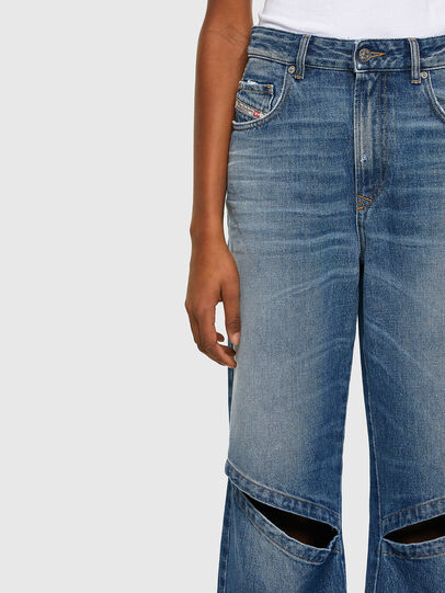 Diesel - D-Reggy Straight Jeans 009RK, Medium Blue - Jeans - Image 3