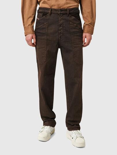 Diesel - D-Franky Straight Jeans 09B38, Brown - Jeans - Image 1