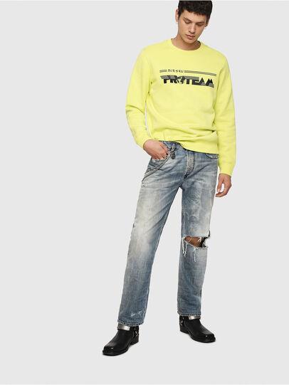 Diesel - S-GIR-Y1, Yellow - Sweatshirts - Image 4