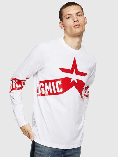 Diesel - T-JUST-LS-STAR, White - T-Shirts - Image 1