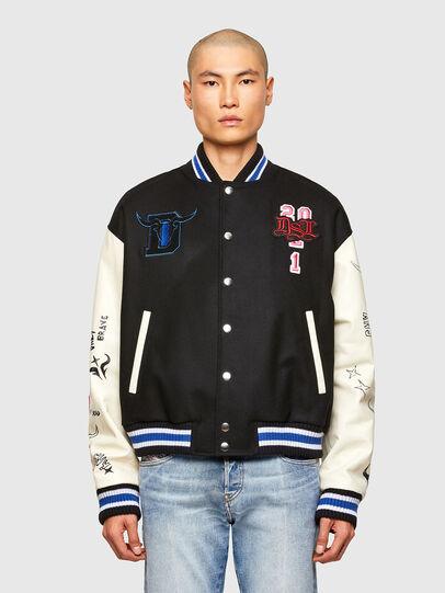 Diesel - CL-L-COHEN-O, Black - Leather jackets - Image 1