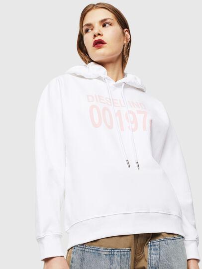 Diesel - F-ANG-HOOD-J1, White - Sweatshirts - Image 1